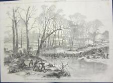 Battle of Stone River, Tenn.  -   Large Size  - Civil War - Leslie's  - 1863