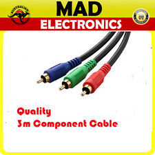 Quality 3m 3RCA RGB Component Video Cable Lead RGB YUV YPbPr Red Green Blue