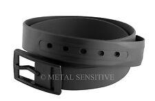 Silicone Belt Army Navy Seals MOD SAS Soldier Black Private Eye PI  XS S M L XL