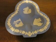 Vintage Wedgwood England Jasperware Blue Pin Dish Ashtray Mint