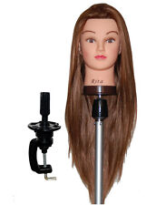 """* Usa Seller * 26"""" Cosmetology Mannequin Head Synthetic Hair Clamp Holder Nu"""