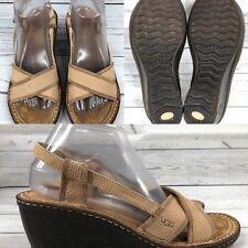 3d5d3757 Anuncio nuevoPara mujer ugg 'Mayley' 3146 Beige-tan Zapatos Cuña Sandalias  Tamaño 8 EUR 39 UK 6.5
