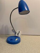 Blue Desk Lamp Light Usb Cord Adjustable Bedroom Study Kids Decor