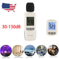 LCD Digital Sound Pressure Level Meter Decibel 30-130dB Noise Measurement