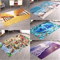 3D Area Rugs Carpet Anti-Skid Floor Mat Doormat 5 Sizes
