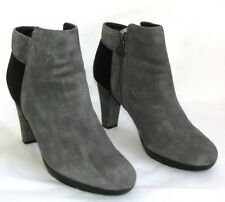 GEOX -botas tacones 10 cm plataforma cuero tercipelo gris & negro 40