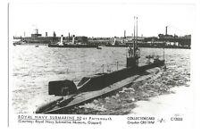 Modern Postcard Royal Navy Submarine D2 at Portsmouth Pamlin Prints   (B4l)