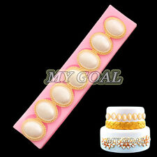 3D Jewelry Pearl Silicone Fondant Mould Cake Border Decor Sugar Paste Icing Mold