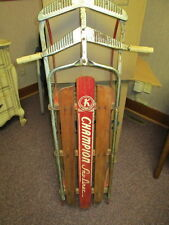 Classic Vintage Champion Chrome and wood Snow-Liner Sled