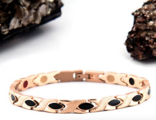 Authentic Pur life Negative Ion Bracelet ELEGANT TITANIUM BLACK & ROSE GOLD PURE