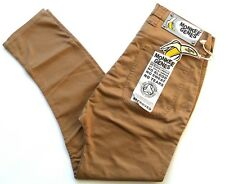"""Monkee Genes Unisex Slim Curved Fit Pants Trousers Organic Cotton Tan 34"""""""