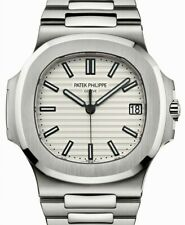 Patek Philippe Nautilus 5711 Steel Silver Dial Mens Watch Box/Papers 5711/1A