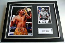 Amir Khan SIGNED FRAMED Photo Autograph 16x12 display Boxing Memorabilia COA