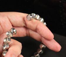 Regno Unito Luccicante Magnetica con Strass Cristallo Bracciale Tono Argento Rotondo PIETRE BRACCIALETTO