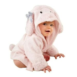 Newborn Animal Face Hooded Baby Towel Cotton Baby Bathrobe Terry Cloth Robe