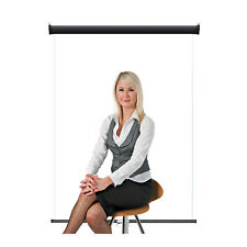 "Retractable Photo Backdrop Black Casing, 36"" x 48"" - White for ID Badge Card"