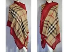 Burberry lujo Haymarket XXL bufanda PAÑUELO scarf estola 190x70 cachemira PVP 429 € red