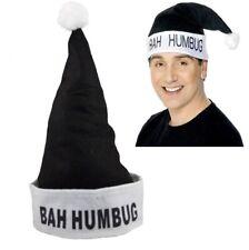 Bah Humbug Black & White Scrooge Christmas Hat Novelty Funny Grumpy Xmas Gift 97