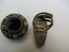 Vintage 925 Silver Ring and pendent from israel 50's,Israeliana  jewelry