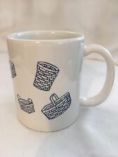 White Longaberger Retired Basket Coffee Mug Cup Made In Usa Eagle