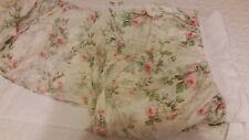 Ralph Lauren King Meadow Way Bedskirt Floral Pink Ivory White Green VHTF! EC!
