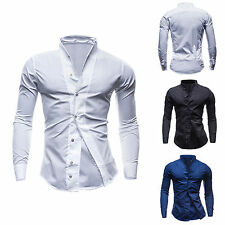 Unbranded Cotton Blend Solid Casual Shirts for Men