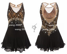 Girl Marvellous Ice Skating Figure skating Dress Gymnastics Dance Costume black