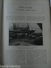 Fire Damp Coal Mine Mining Senghenith Colliery Davy Safety Lamp Old 1901 Article