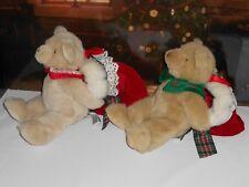 BIALOSKY TREASURY BEARS Holly & Nicholas  Christmas Bear Stockings Retired