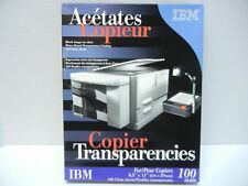 NEW 500 SHEETS IBM CLEAR TRANSPARENCY TRANSPARENCIES FILM COPIERS/STENCIL IN BOX