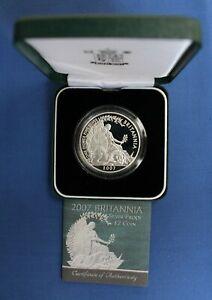 2007 Royal Mint 1oz Silver Proof Britannia £2 coin in Case with COA