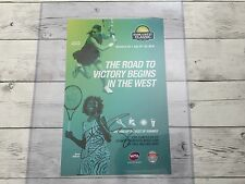 Venus Williams Signed BOTW Bank Of The West Classic Poster Autographed b