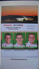 CARD 24 HOURS SPA - FRANCORCHAMPS 2015 : NISMO NISSAN GT-R GT3