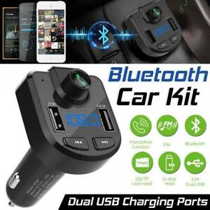 Bluetooth5.0 Wireless Car FM Transmitter MP3 Player Radio 2 USB Charger Adapter