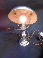 Lampe champignon moderniste metal chrome 1930