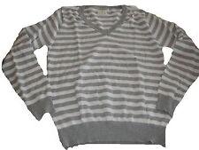Atmosphere toller Strick Pullover Gr. 44 grau-weiß gestreift !!