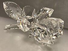 Swarovski Figur liegende Rose 8,5 cm. Top Zustand