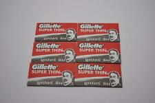 60pcs. Gillette Super Thin Blade New Improved Stainless Original By Gillette