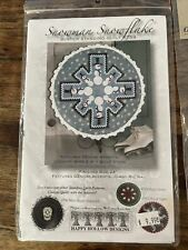 Snowman snowflake winter standing quilt #759. Instructions. No Stand.