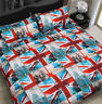 UK Flag 60s Union Jack British Music Crown Double King Bed Quilt Duvet Cover Set
