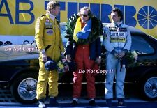 Ronnie Peterson & Niki Lauda & Riccardo Patrese Swedish GP 1978 Photograph