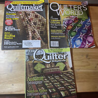 Lot Of 3 Quilting Magazines