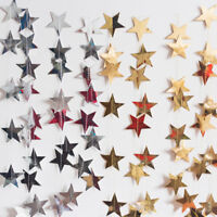 13Ft Sparkle Five-pointed Paper Star Chain Garland Birthday Wedding Party Decor