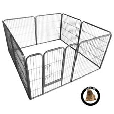 Ellie-Bo 80cm High Heavy Duty 8 Piece Puppy Dog Play Pen Enclosure Whelping Pen