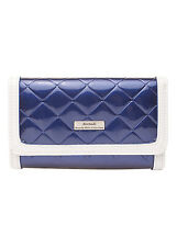 Serenade Quilted Boxes Print Leather Wallet (WH64-02)