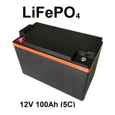 12V 100Ah LiFePO4 Lithium Battery pack LFP deep cycle (5C high discharge) +BMS