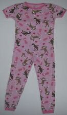 Carter's Just One Year Girls Size 4T Short Sleeve Pink Monkey Pajamas Preowned