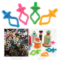 8/24/32/40/48X Cute Color Silicone Thread Clip Bobbin Holder Clips Clamp Tool US