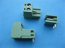 60 pcs 5.08mm Angle 2 way/pin Screw Terminal Block Connector Pluggable Green New