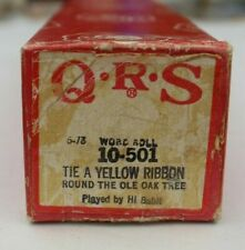 More details for qrs pianola word roll:tie a yelow ribbon round the old oak tree